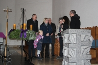 Dritter Advent in St. Antonius mit Verabschiedung von Maria Frerick und Taufe
